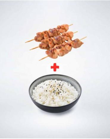 Brochette cuisse de poulet