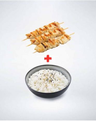 Brochette escalope de poulet